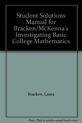 Investigating Basic College Mathematics   2003 9780534405007 Front Cover