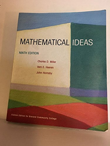 MATHEMATICAL IDEAS >CUSTOM< 9th 2001 edition cover