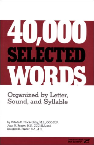 40,000 Selected Words 1st 1987 edition cover