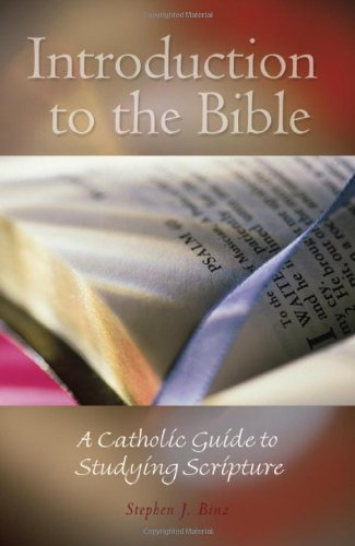 Introduction to the Bible A Catholic Guide to Studying Scripture  2007 edition cover