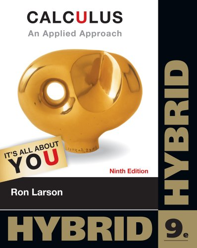 Calculus An Applied Approach, Hybrid 9th 2013 edition cover