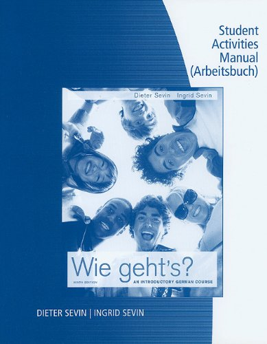 Student Activity Manual for Wie Geht'S?  9th 2011 (Student Manual, Study Guide, etc.) edition cover