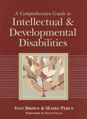 Comprehensive Guide to Intellectual and Developmental Disabilities   2007 edition cover