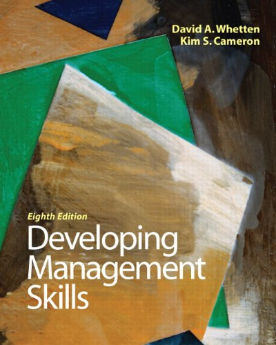 Developing Management Skills  8th 2011 9780136121008 Front Cover