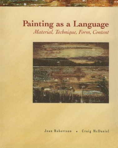 Painting as a Language Material, Technique, Form, Content  2000 edition cover
