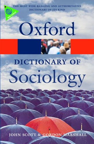 Dictionary of Sociology  3rd 2009 (Revised) edition cover