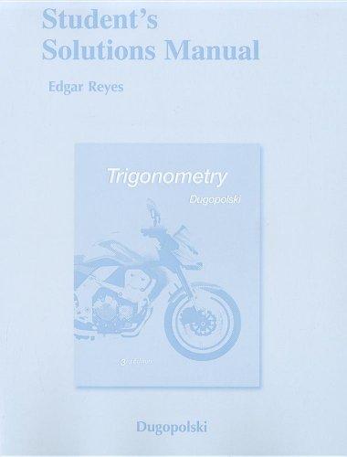 Trigonometry  3rd 2011 edition cover