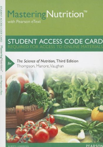 Science of Nutrition  3rd 2014 edition cover