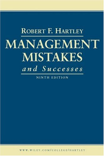 Management Mistakes and Successes  9th 2008 edition cover