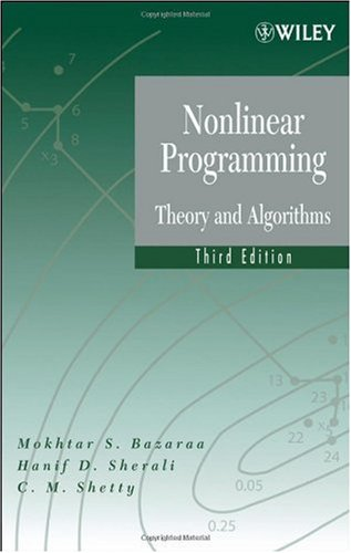 Nonlinear Programming Theory and Algorithms 3rd 2006 (Revised) edition cover