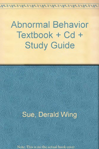 Abnormal Behavior with CD Plus  8th 2006 (Student Manual, Study Guide, etc.) 9780618715008 Front Cover