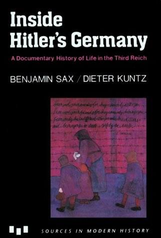 Inside Hitler's Germany A Documentary History of Life in the Third Reich  1992 edition cover