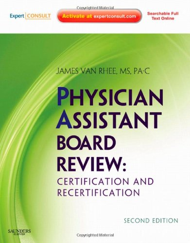 Physician Assistant Board Review  2nd 2010 9781437700008 Front Cover
