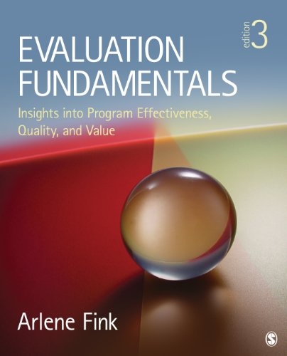 Evaluation Fundamentals Insights into Program Effectiveness, Quality, and Value 3rd 2015 edition cover