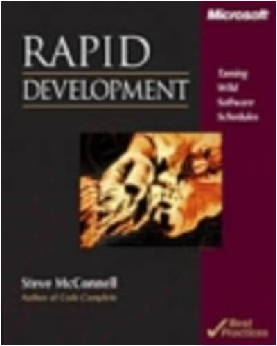 Rapid Development Taming Wild Software Schedules  1997 (Revised) edition cover