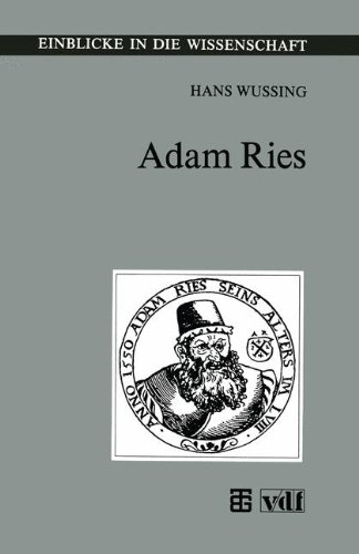 Adam Ries:   1992 9783815425008 Front Cover