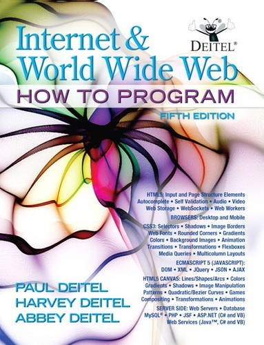 Internet and World Wide Web How to Program  5th 2012 (Revised) edition cover
