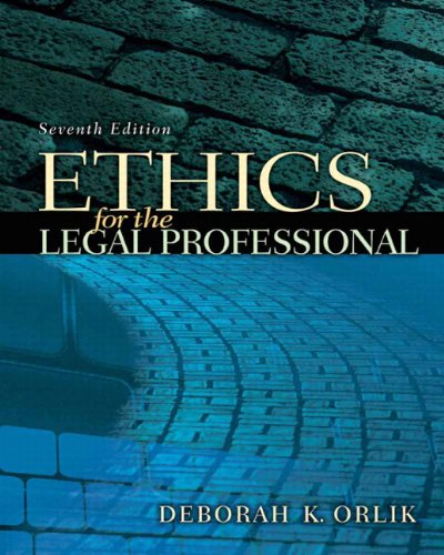 Ethics for the Legal Professional  7th 2011 edition cover