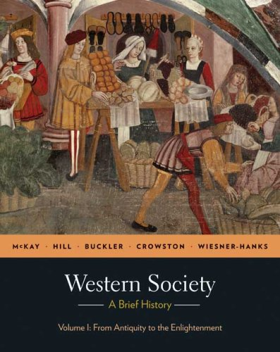 Western Society A Brief History - From Antiquity to Enlightenment  2010 edition cover