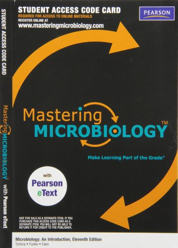 MasteringMicrobiology with Pearson eText -- ValuePack Access Card -- for Microbiology: An Introduction (ME component)  2013 edition cover