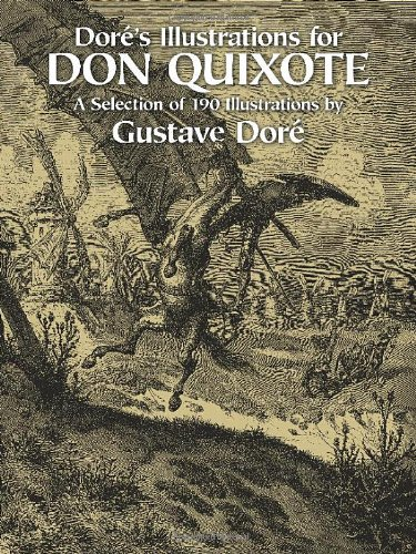 Dore's Illustrations for Don Quixote A Selection of 190 Illustrations  1982 edition cover