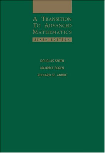 Transition to Advanced Mathematics  6th 2006 9780534399009 Front Cover