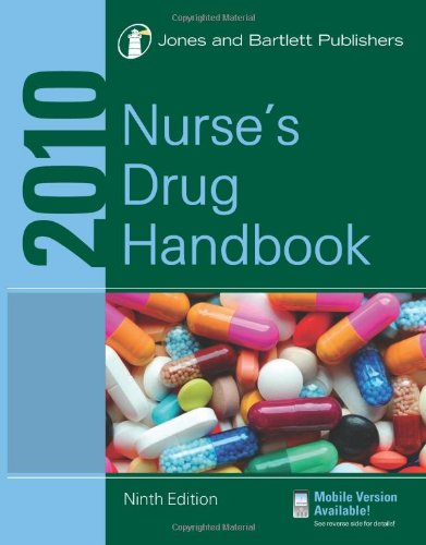 Nurse's Drug 2010  9th 2010 (Revised) 9780763779009 Front Cover