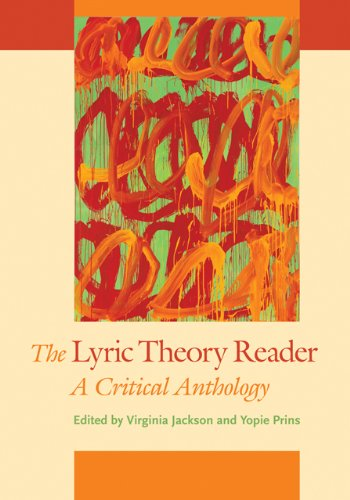Lyric Theory Reader A Critical Anthology  2014 edition cover