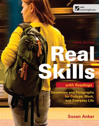 Real Skills with Readings Sentences and Paragraphs for College, Work, and Everyday Life 3rd 2013 edition cover