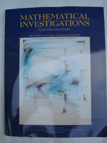 MATHEMATICAL INVESTIGATIONS >C 1st edition cover
