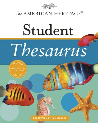 American Heritage Student Thesaurus   2010 9780547216010 Front Cover