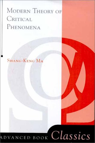 Modern Theory of Critical Phenomena   2000 (Revised) 9780738203010 Front Cover