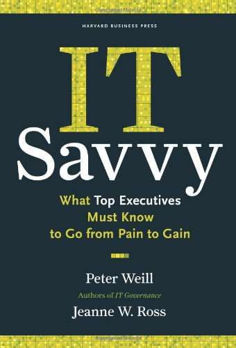 IT Savvy What Top Executives Must Know to Go from Pain to Gain  2009 edition cover
