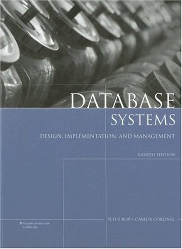 Database Systems Design, Implementation, and Management 8th 2009 edition cover