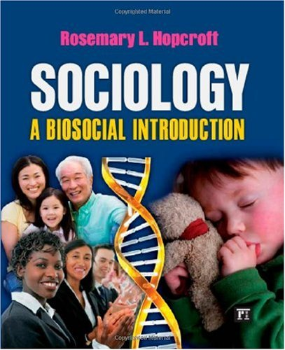 Sociology A Biosocial Introduction  2010 edition cover