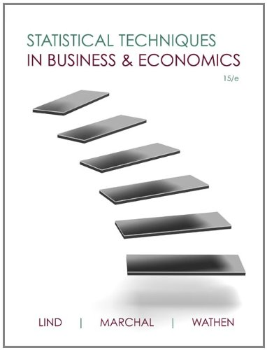 Statistical Techniques in Business and Economics  15th 2012 edition cover