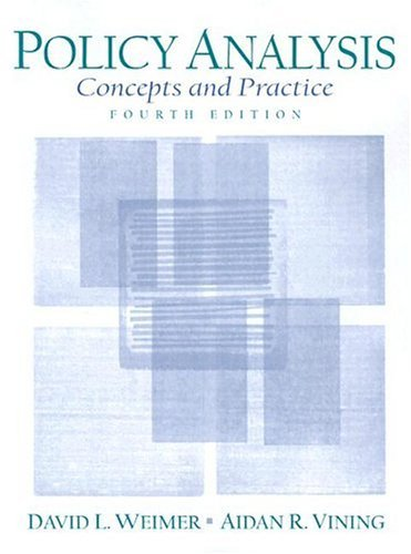 Policy Analysis Concepts and Practice 4th 2005 edition cover