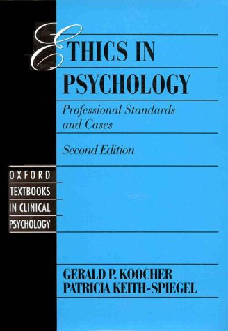 Ethics in Psychology and the Mental Health Professions Standards and Cases 2nd 1998 (Revised) edition cover