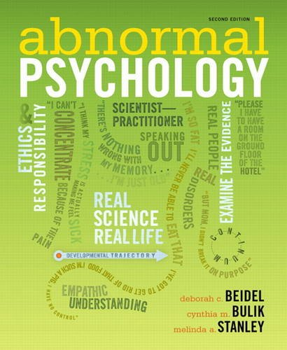 Abnormal Psychology  2nd 2012 (Revised) edition cover