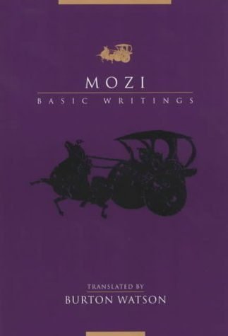 Mozi Basic Writings  2003 edition cover