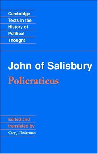 John of Salisbury Policraticus  1990 edition cover