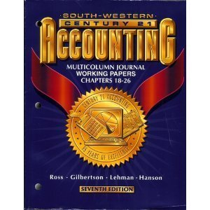 Century 21 Accounting Multicolumn Journal Approach 7th 1998 9780538677011 Front Cover