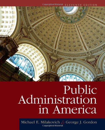 Public Administration in America  11th 2013 edition cover