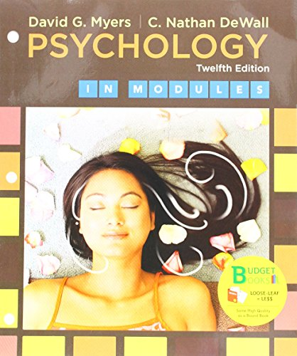 Psychology in Modules:   2017 9781319068011 Front Cover