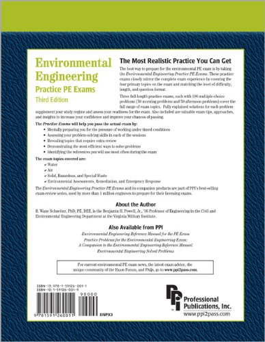 Environmental Engineering Practice PE Exams  3rd 2004 edition cover