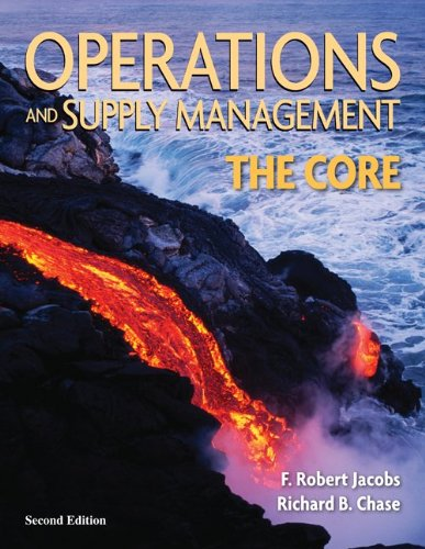 Operations and Supply Management The Core 2nd 2010 edition cover