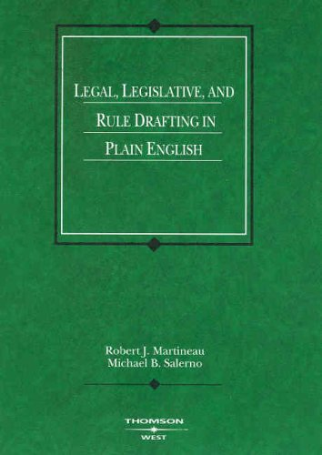 Drafting Legislative, and Rule Drafting in Plain English   2005 edition cover