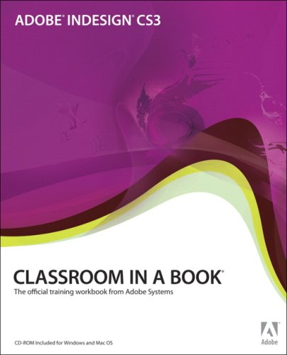 Adobe Indesign CS3 The Official Training Workbook from Adobe Systems  2007 edition cover