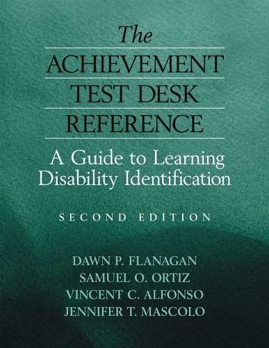 Achievement Test Desk Reference A Guide to Learning Disability Identification 2nd 2006 (Revised) edition cover