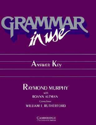 Grammar in Use Answer Key Reference and Practice for Intermediate Students of English  1989 edition cover